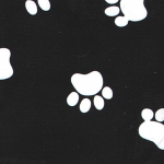Print: Black/White Paw