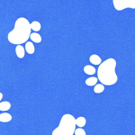 Print: Royal/White Paw