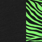 Black with Lime Zebra