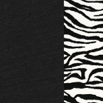 Black with White Zebra