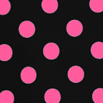 Black with Pink Polka Dots