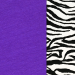 Purple with White Zebra